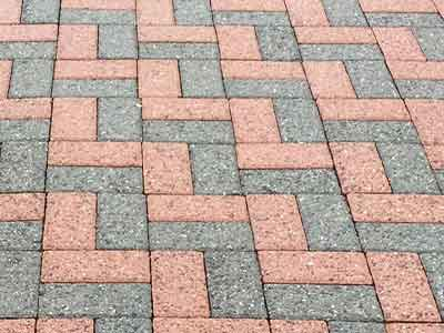 Pavers that have been pressure washed.