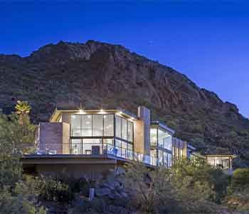 Luxury house on hill in Scottsdale.